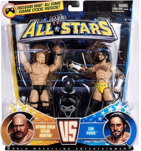 Mattel WWE Wrestling Exclusive All Stars Action Figure 2-Pack Stone Cold Steve Austin Vs. CM Punk Best in the World! vs. The Rattlesnake