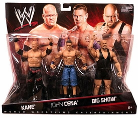Mattel WWE Wrestling Exclusive Action Figure 3-Pack Kane, John Cena & Big Show