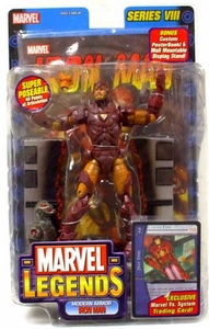Marvel Legends Series 8 Action Figure Modern Iron Man Damaged Package, Mint Contents!