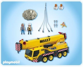 Playmobil Transport Set #4036 Heavy Duty Mobile Crane