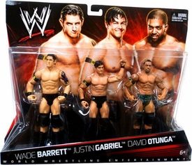 Mattel WWE Wrestling Exclusive Action Figure 3-Pack Wade Barrett, Justin Gabriel & David Otunga BLOWOUT SALE!