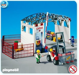 Playmobil Transport Set #4314 Cargozone with Forklift
