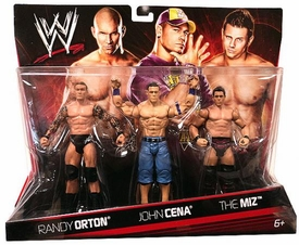 Mattel WWE Wrestling Exclusive Action Figure 3-Pack Randy Orton, John Cena & The Miz