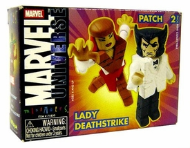 Marvel MiniMates Series 9 Wolverine [Patch] & Lady Deathstrike