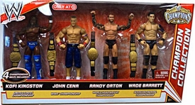 Mattel WWE Wrestling Exclusive Champion Collection Action Figure 4-Pack Kofi Kingston, John Cena, Randy Orton, Wade Barrett [4 Championship Belts!]