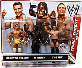 Mattel WWE Wrestling Exclusive Action Figure 3-Pack Alberto Del Rio, R-Truth & The Miz [Triple Threat Match] BLOWOUT SALE!