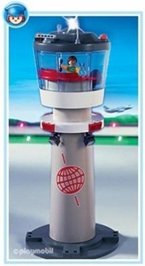 Playmobil Transport Set #4313 Airport Tower with Blinking Light