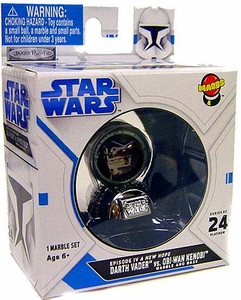 Marbs Collectibles Marbles Series 2 Episode IV A New Hope Platinum #24 Darth Vader vs. Obi-Wan Kenobi [Chase Piece]