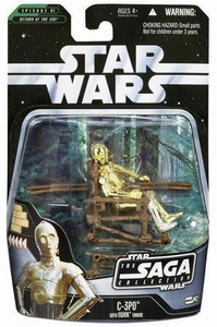 Star Wars Saga 2006 Basic Action Figure #42 C-3PO [Ewok Deity]