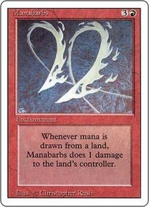 Magic the Gathering Revised Edition Single Card Rare Manabarbs