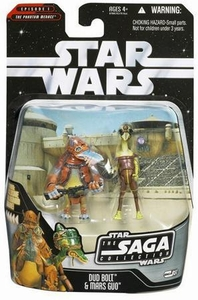Star Wars Saga 2006 Basic Action Figure #51 Dud Bolt & Mars Guo