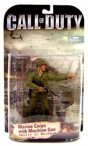 McFarlane Toys Call of Duty Action Figure Marine with Machine Gun [Battle of Okinawa]