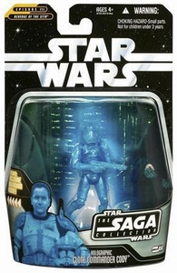 Star Wars Saga 2006 Basic Action Figure #56 Clone Commander Cody [Hologram]