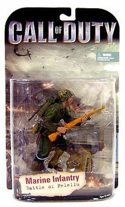 McFarlane Toys Call of Duty Action Figure Marine Infantry [Battle of Peleliu] Gold Rifle Variant Hot!