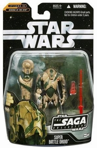 Star Wars Saga 2006 Basic Action Figure #61 Super Battle Droid [Stealth Version]