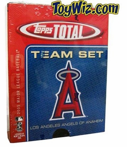 2005 Topps Total Anaheim Angels Baseball Card Team Set