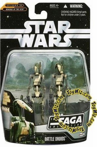 Star Wars Saga 2006 Basic Action Figure #62 Battle Droids 2-Pack [Stealth Version]