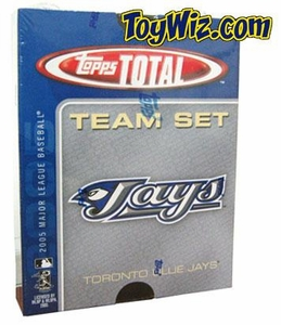 2005 Topps Total Toronto Blue Jays Baseball Card Team Set