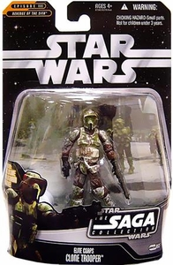 Star Wars Saga 2006 Basic Action Figure #65 Elite Corps Clone Trooper