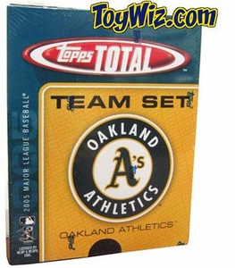 2005 Topps Total Oakland Athletics Baseball Card Team Set