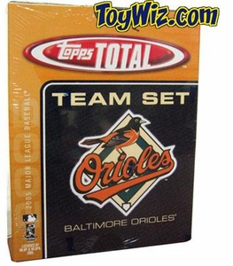 2005 Topps Total Baltimore Orioles Baseball Card Team Set