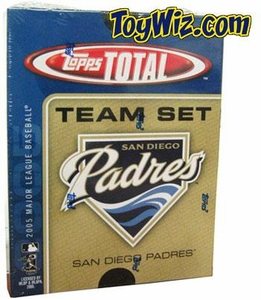 2005 Topps Total San Diego Padres Baseball Card Team Set
