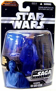 Star Wars Saga 2006 Basic Action Figure #63 Holographic Obi-Wan Kenobi (Dark Blue Variant)