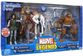 Marvel Legends Fantastic Four VARIANT Action Figure Boxed Set [Mr. Fantastic, Invisible Woman, Dr. Doom, Human Torhc, Thing, Franklin Richards & H.E.R.B.I.E.]