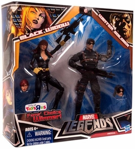 Marvel Legends Fan's Choice Exclusive Action Figure 2-Pack Black Widow [Black Costume] & Winter Soldier