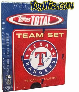 2005 Topps Total Texas Rangers Baseball Card Team Set