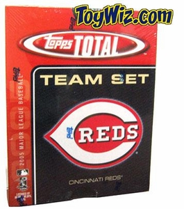 2005 Topps Total Cincinnati Reds Baseball Card Team Set