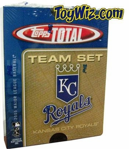 2005 Topps Total Kansas City Royals Baseball Card Team Set