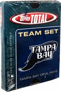 2005 Topps Total Tampa Bay Devil Rays Baseball Card Team Set