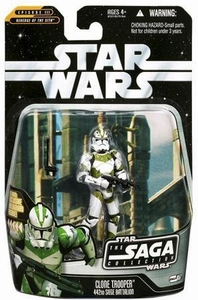 Star Wars Saga 2006 Basic Action Figure #57 Clone Trooper 442nd Seige Battallion [Green Stripes]