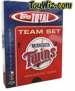 2005 Topps Total Minnesota Twins Baseball Card Team Set