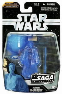 Star Wars Saga 2006 Basic Action Figure #63 Holographic Obi-Wan Kenobi