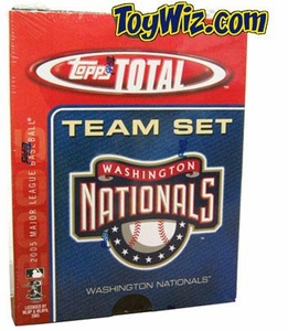 2005 Topps Total Washington Nationals Baseball Card Team Set