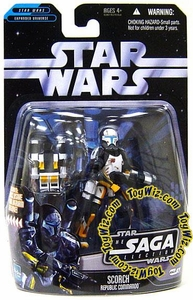 Star Wars Saga 2006 Basic Action Figure #21 Scorch [Republic Commando]