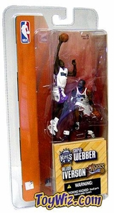 McFarlane Toys NBA 3 Inch Sports Picks Series 1 Mini Figures 2-Pack Allen Iverson (Philadelphia 76ers) & Chris Webber (Sacramento Kings)