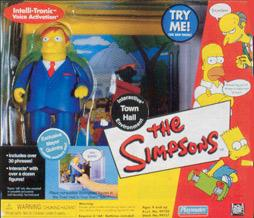 The Simpsons Series 3 Action Figure Playset Town Hall with Mayor Quimby