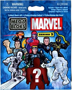 Marvel Mega Bloks Series 3 Minifigure Mystery Pack [1 RANDOM Mini Figure]
