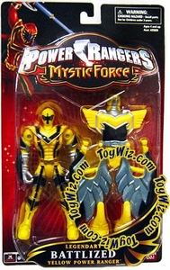 Power Rangers Mystic Force Legendary Battlized Action Figure Yellow Ranger to Yellow Mystic Titan