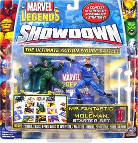 Marvel Legends Showdown Starter Set Action Figure 2-Pack with Super Poseable Moleman & Mr. Fantastic