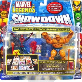 Marvel Legends Showdown Starter Set Action Figure 2-Pack with Super Poseable Spider-Man & Thing Damaged Package, Mint Contents!