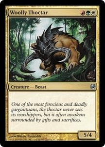 Magic the Gathering Duel Decks: Ajani vs. Nicol Bolas Single Card Gold Uncommon #13 Woolly Thoctar