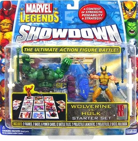 Marvel Legends Showdown Starter Set Action Figure 2-Pack with Super Poseable Wolverine & Hulk