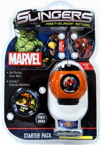 Marvel Slingers Magnetic Pick-Up Game Starter Pack Iron Man