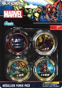 Marvel Slingers Magnetic Pick-Up Game Medallion Power Pack