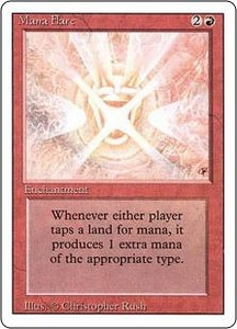 Magic the Gathering Revised Edition Single Card Rare Mana Flare Played Condition