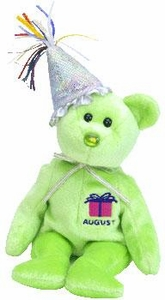 Ty Beanie Baby August the New Version Birthday Bear